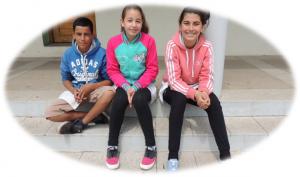 Gabriel (13), Valentina (12) e Emily (12). Foto: Clara Dornlles