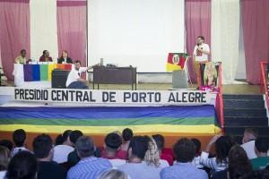 Guilherme Gomes Ferreira em evento do presídio central de Porto Alegre.